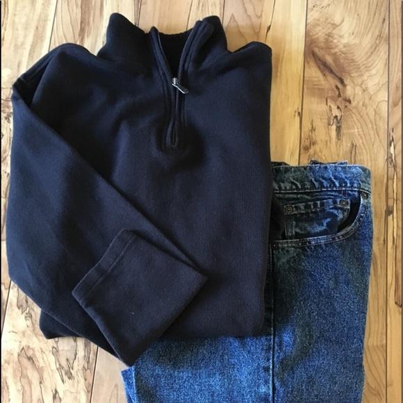f9c53adce65 Joe Joseph Abboud Men's Black Neck Zip Sweater